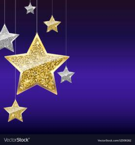 gold and purple star