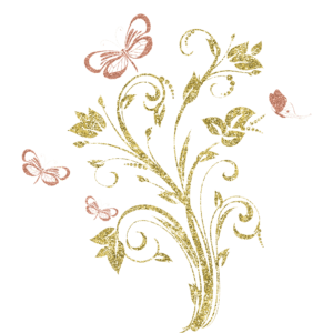gold glittery butterfly